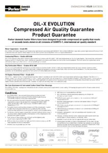 OIL-X EVOLUTION Compressed Air Quality Guarantee